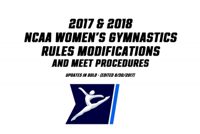 NCAA Modifications (W) for 2017-2018