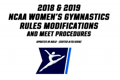 2018-2019 NCAA Women's Rule Modifications Released